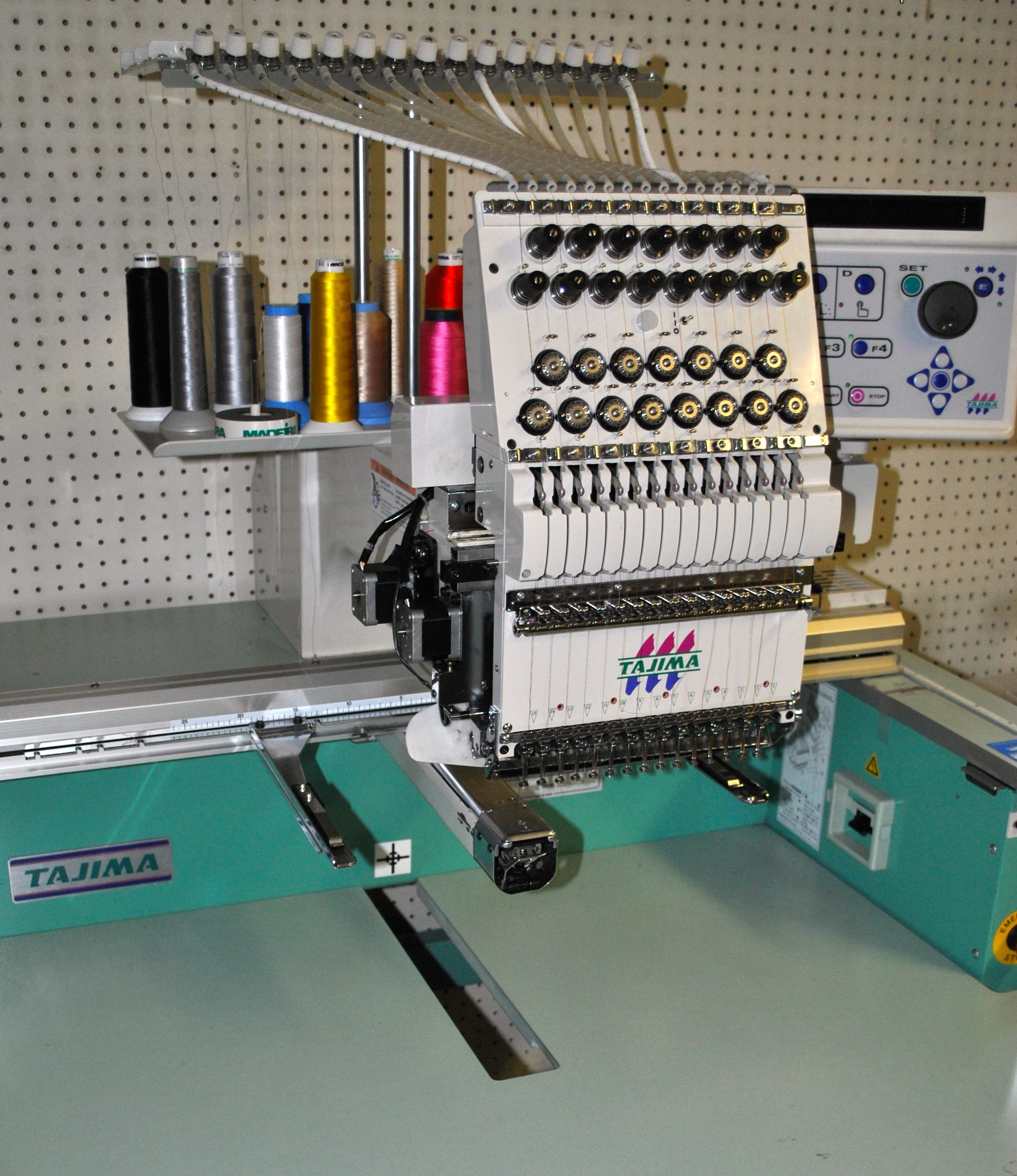Tajima Embroidery Machine Angeled View