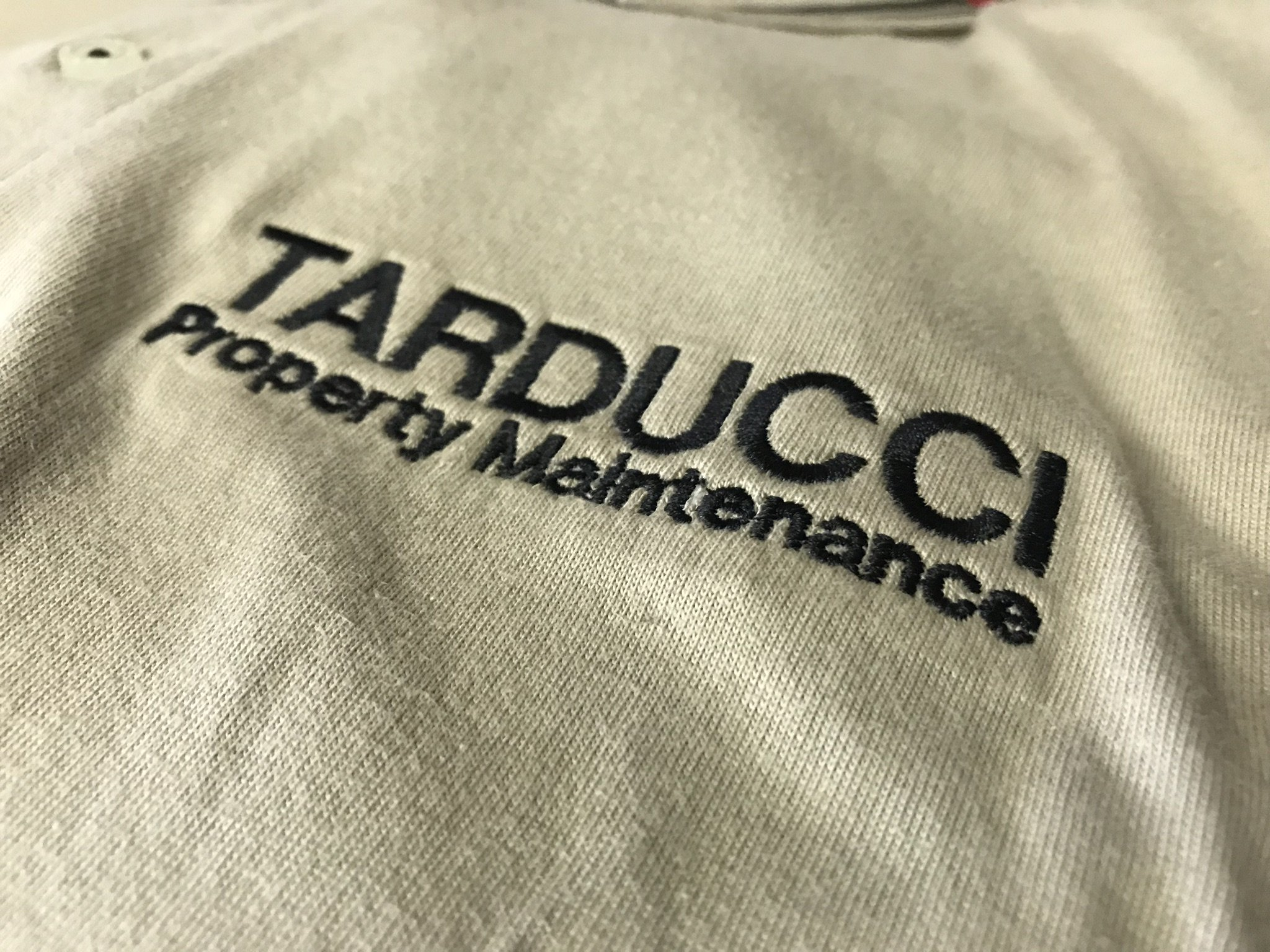 Tarducci Property Maintenance— Embroidered Company Tee's